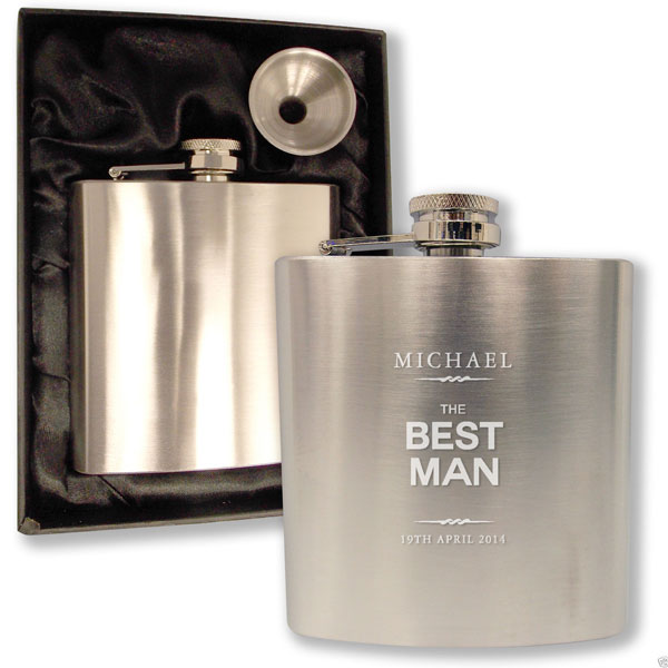 engraved hip flask